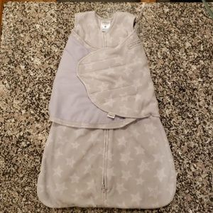Cozy Halo Sleepsack Swaddle. Small. Grey & White